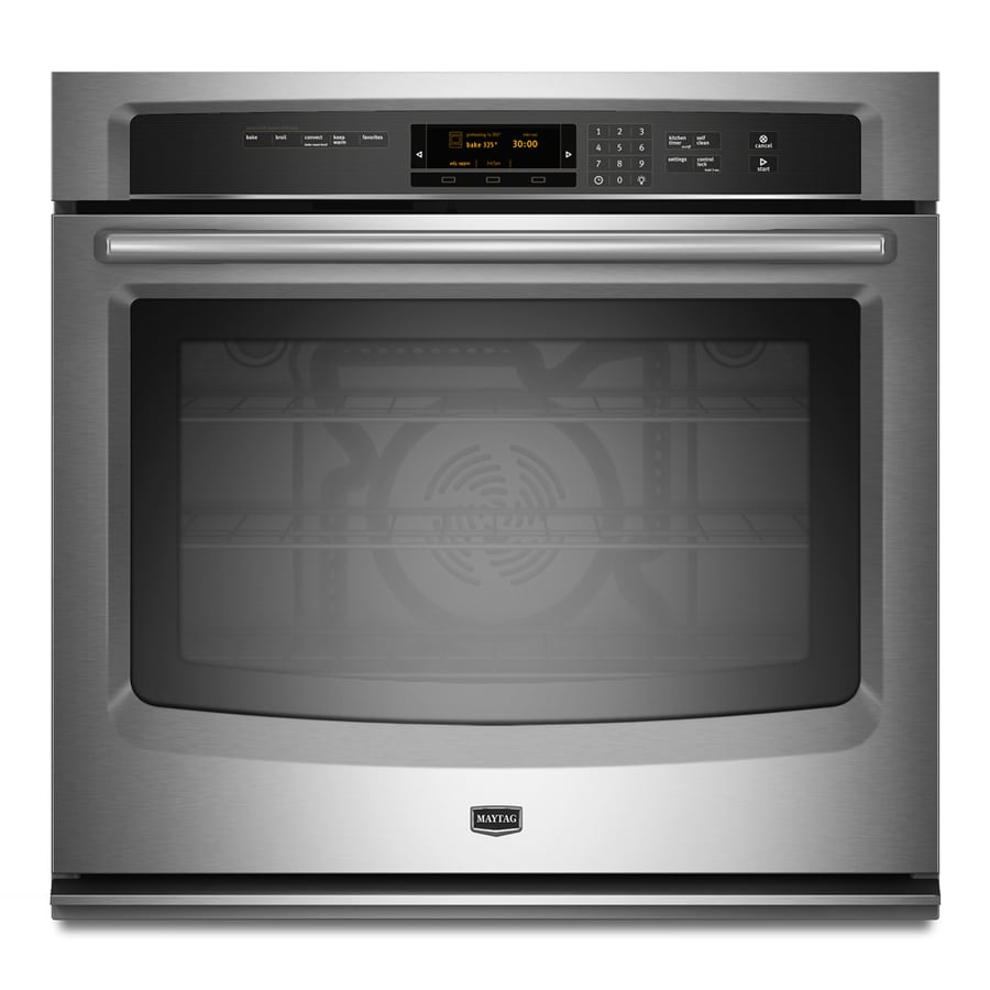 Maytag Self-Cleaning Convection Single Electric Wall Oven (Stainless Steel) (Common: 30-in; Actual 30-in)