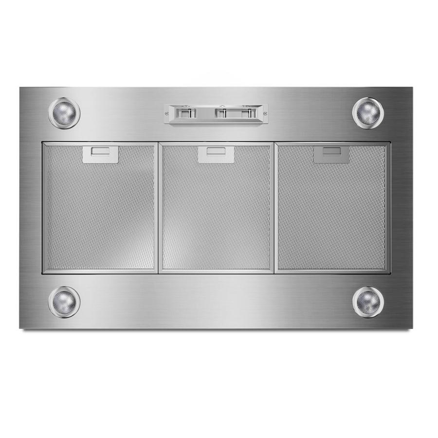 Whirlpool Ducted Wall-Mounted Range Hood (Stainless Steel) (Common: 36-in; Actual: 36-in)