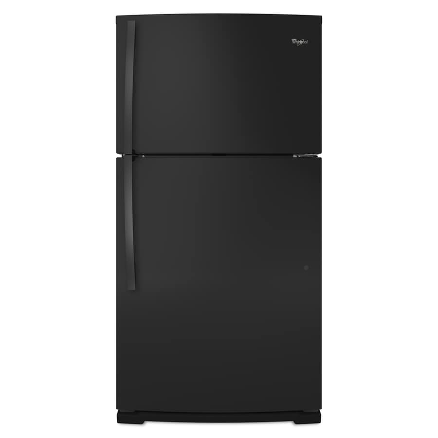 Whirlpool 21.1-cu ft Top-Freezer Refrigerator (Black)