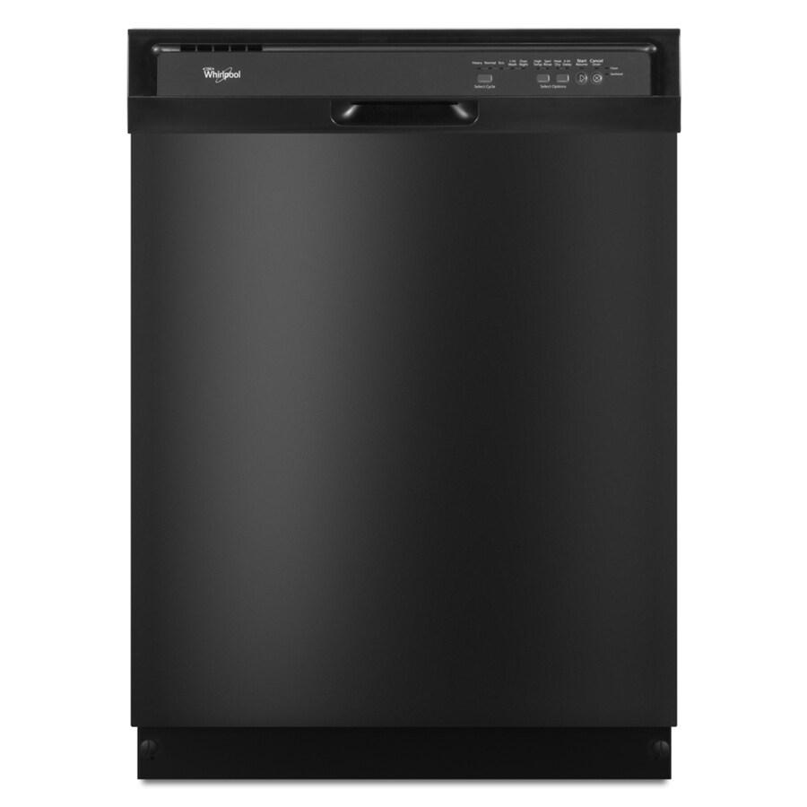 Whirlpool 55-Decibel Built-In Dishwasher (Black) (Common: 24-in; Actual: 23.875-in) ENERGY STAR