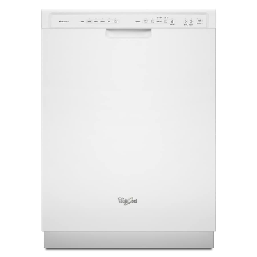 Whirlpool Gold 51-Decibel Built-in Dishwasher with Stainless Steel Tub (White) (Common: 24-in; Actual 23.875-in) ENERGY STAR