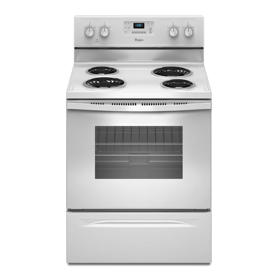 Whirlpool Freestanding 4.8-cu ft Self-Cleaning Electric Range (White) (Common: 30-in; Actual: 29.87-in)