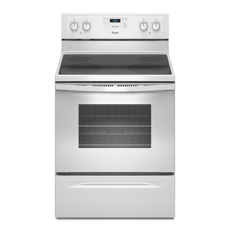 Whirlpool Smooth Surface Freestanding 4.8-cu ft Self-Cleaning Electric Range (White) (Common: 30-in; Actual: 29.87-in)