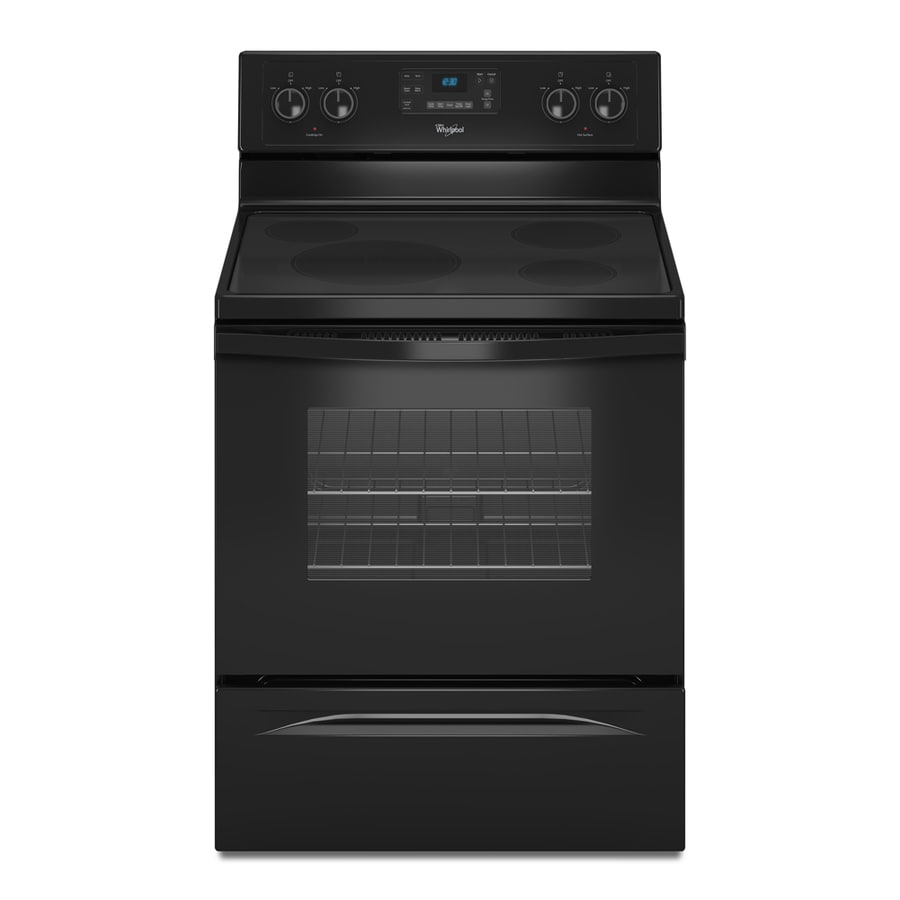Shop whirlpool 30 in smooth surface freestanding 4 element 5 3 cu ft