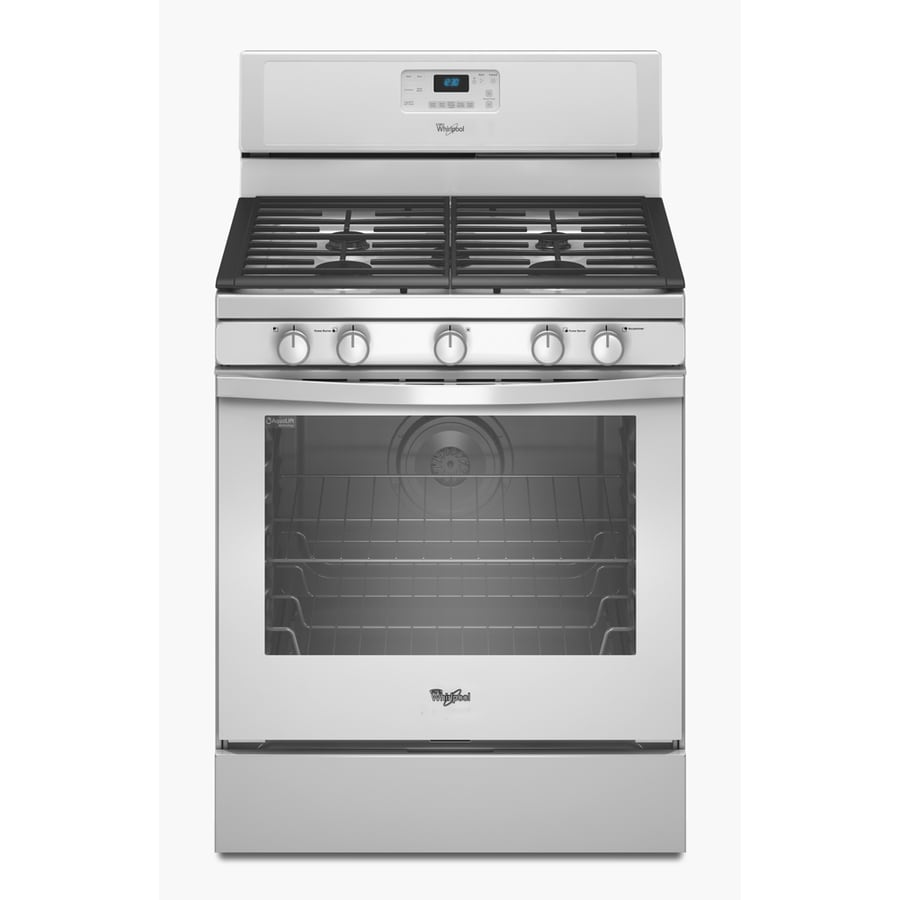 Whirlpool 5 burner freestanding 5 8 cu ft self cleaning convection gas