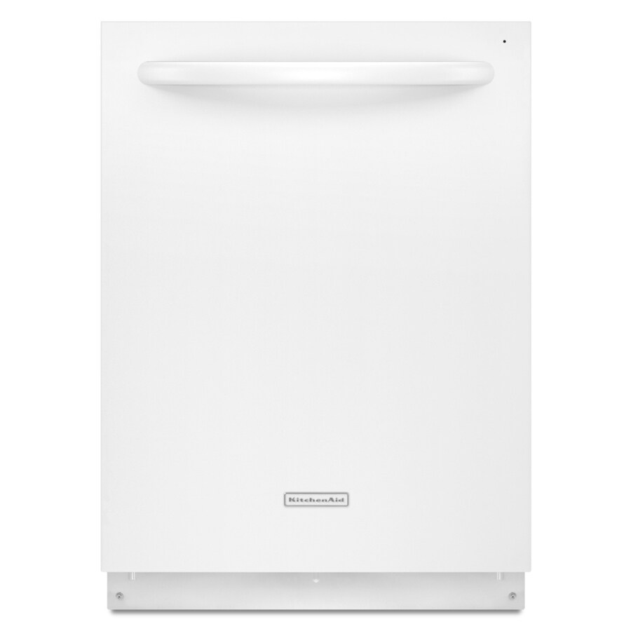 KitchenAid Superba 46-Decibel Built-in Dishwasher with Stainless Steel Tub (White) (Common: 24-in; Actual 23.875-in) ENERGY STAR