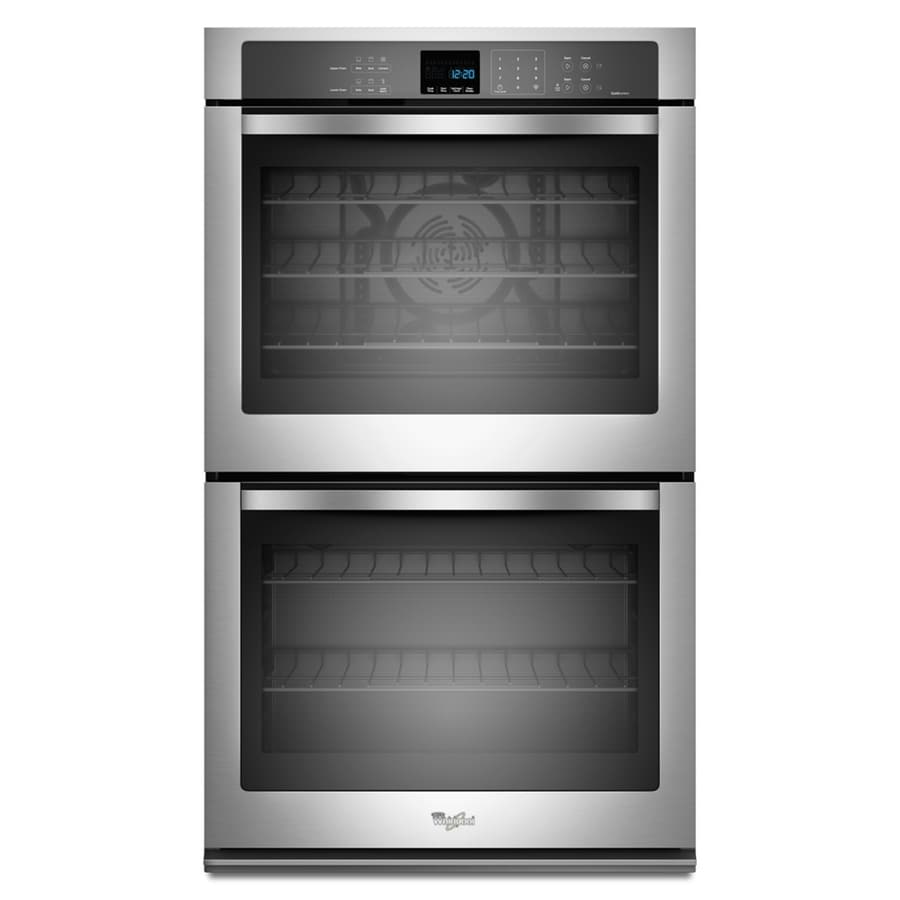 Whirlpool Self-Cleaning Convection Double Electric Wall Oven (Stainless Steel) (Common: 27-in; Actual: 27-in)