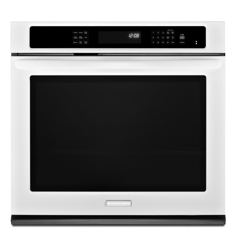 KitchenAid Architect II Self-Cleaning Convection Single Electric Wall Oven (White) (Common: 30-in; Actual 30-in)