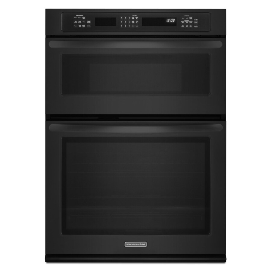 KitchenAid Self-Cleaning Microwave Convection Microwave Wall Oven Combo (Black) (Common: 27-in; Actual: 27-in)