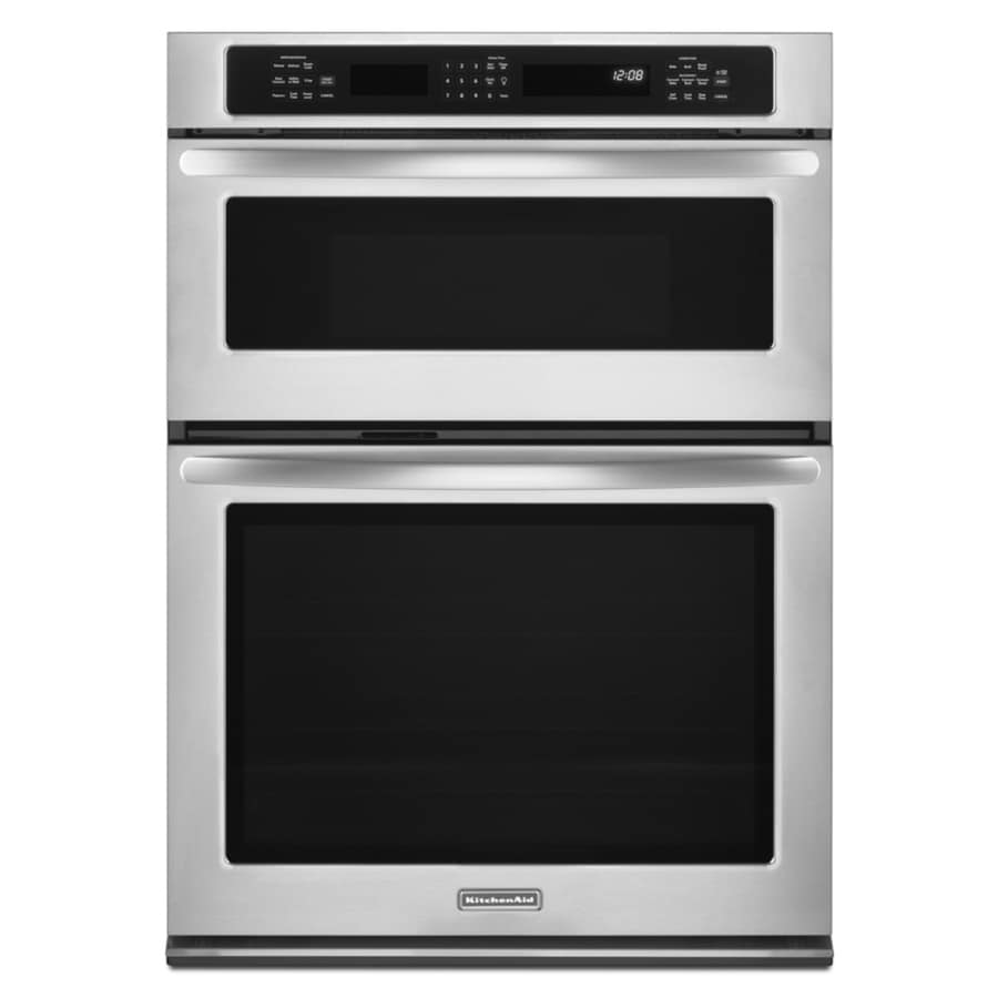 KitchenAid Self-Cleaning Microwave Convection Microwave Wall Oven Combo (Stainless Steel) (Common: 27-in; Actual: 27-in)