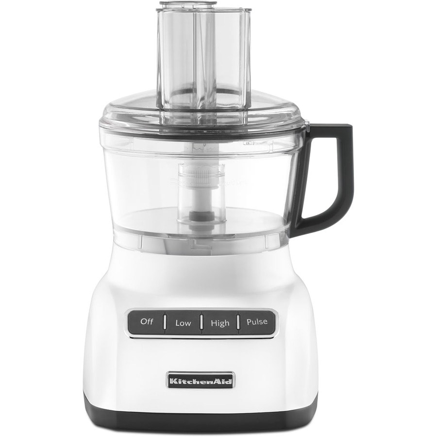 KitchenAid 7-Cup 320-Watt White 3-Blade Food Processor