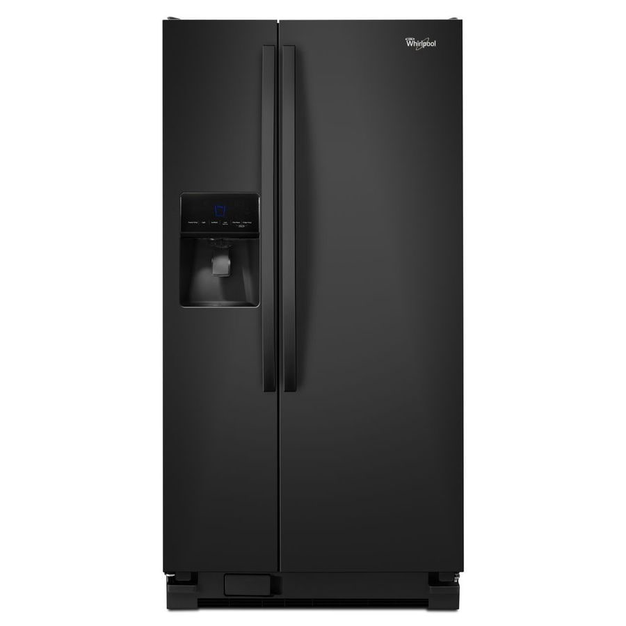 Whirlpool 21.3-cu ft Side-by-Side Refrigerator with Single Ice Maker (Black)