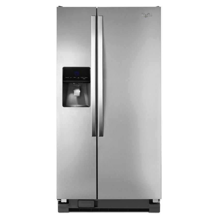 Whirlpool 21.3-cu ft Side-by-Side Refrigerator with Single Ice Maker (Monochromatic Stainless Steel)