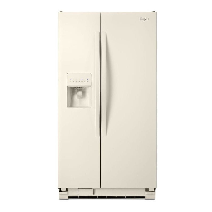 Whirlpool 24.5-cu ft Side-by-Side Refrigerator with Single Ice Maker (Biscuit)