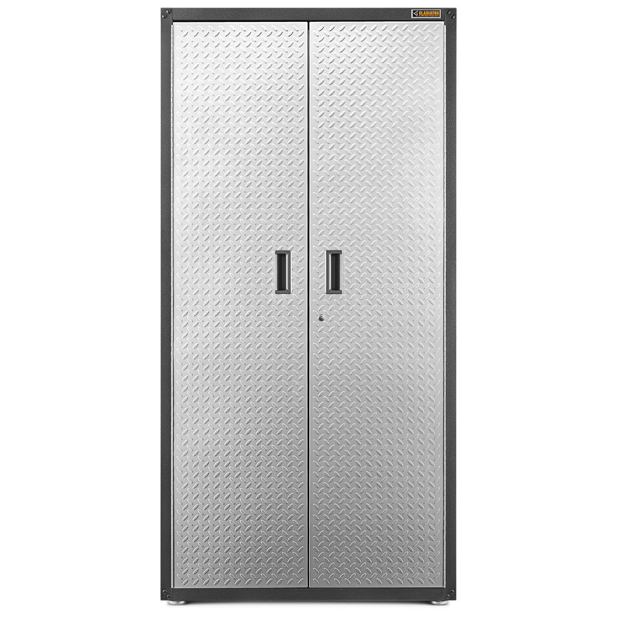 Shop Gladiator 36 In W X 72 In H X 18 In D Steel Freestanding Or Wall Mount Garage Cabinet At