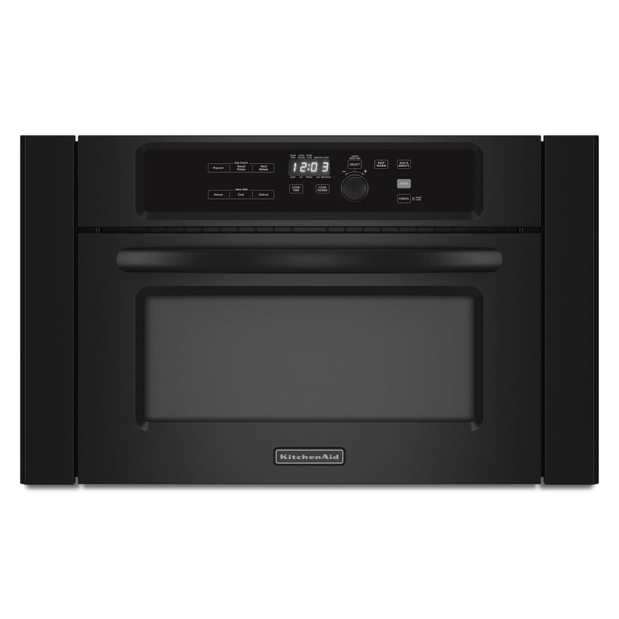 KitchenAid Architect 1.4-cu ft Built-In Microwave with Sensor Cooking Controls (Black)