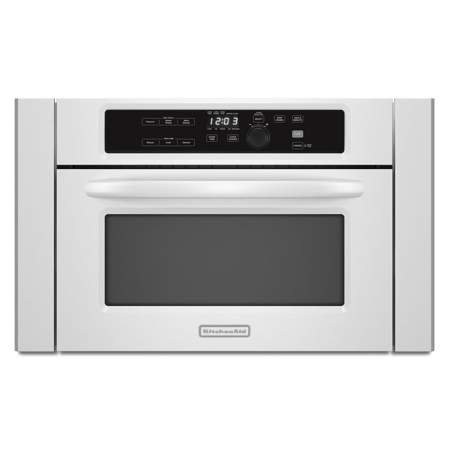 KitchenAid Architect 1.4-cu ft Built-In Microwave with Sensor Cooking Controls (White)