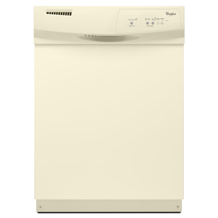 Whirlpool 59-Decibel Built-In Dishwasher (Biscuit) (Common: 24-in; Actual: 23.875-in)