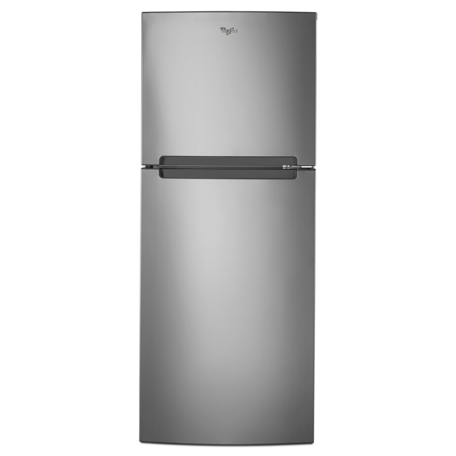 Whirlpool 10.72-cu ft Top-Freezer Refrigerator (Mono Satina Steel)