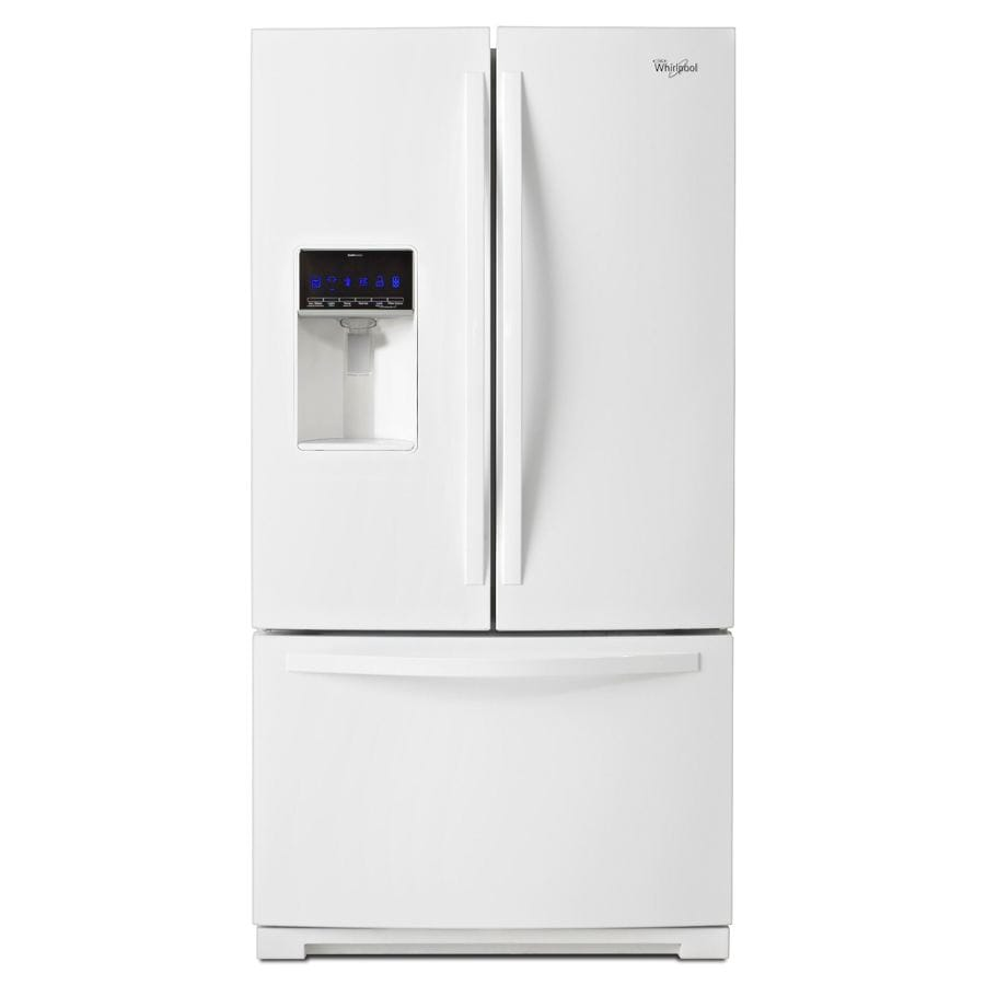 Whirlpool 24.7-cu ft French Door Refrigerator with Single Ice Maker (White) ENERGY STAR