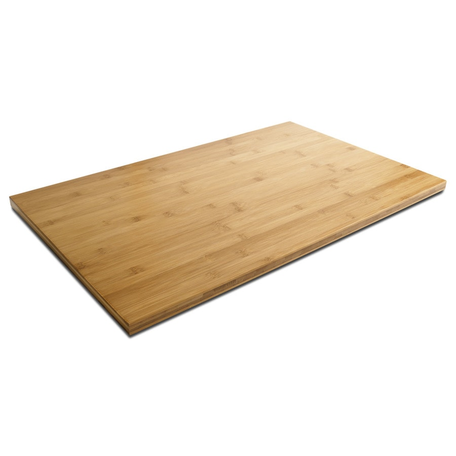 Shop Gladiator 27 83 In W X 17 68 In L Brown Bamboo Work Bench Top At Lowes Com