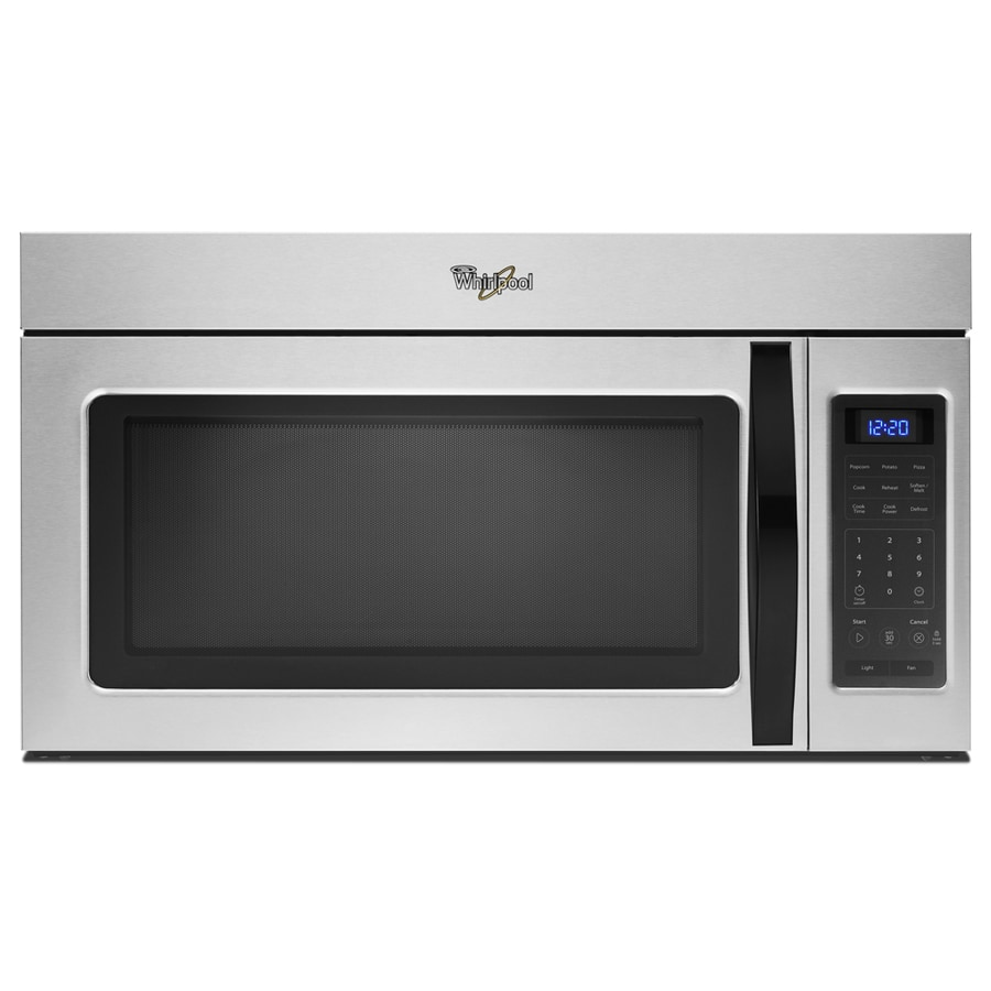 Whirlpool 1.7-cu ft Over-the-Range Microwave (Silver) (Common: 30-in; Actual: 29.938-in)