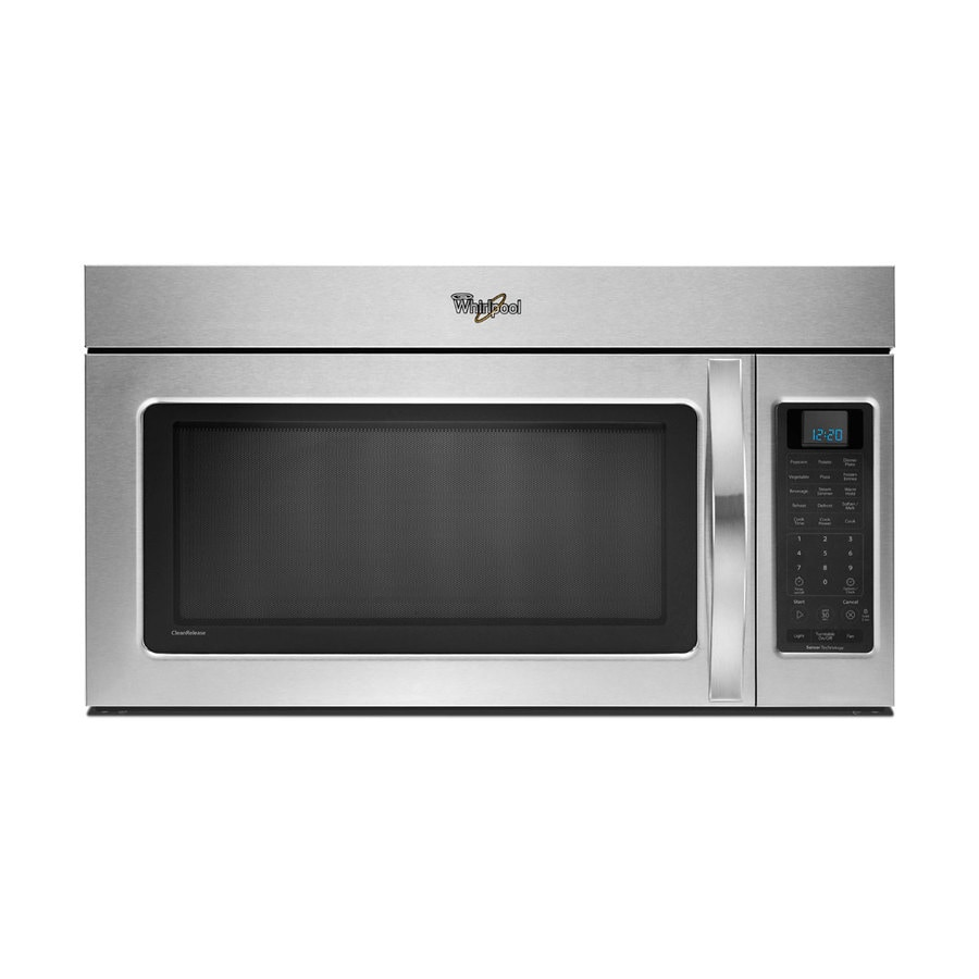 Whirlpool 30-in 2-cu ft Over-the-Range Microwave with Sensor Cooking Controls (Stainless Steel)