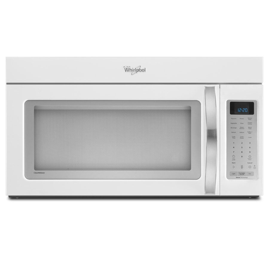 Whirlpool White Ice 2-cu ft Over-the-Range Microwave with Sensor Cooking Controls (White Ice) (Common: 30-in; Actual: 29.938-in)