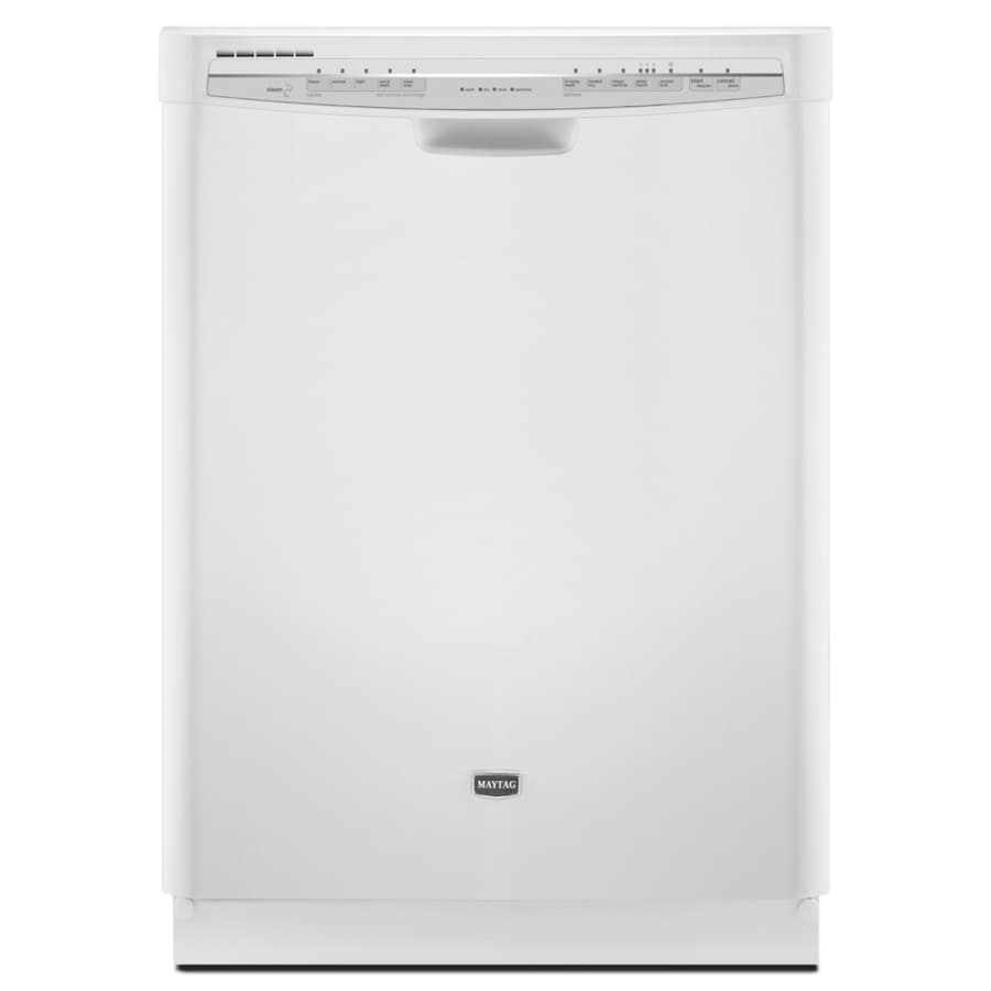 Maytag 57-Decibel Built-In Dishwasher (White) (Common: 24-in; Actual: 23.875-in)