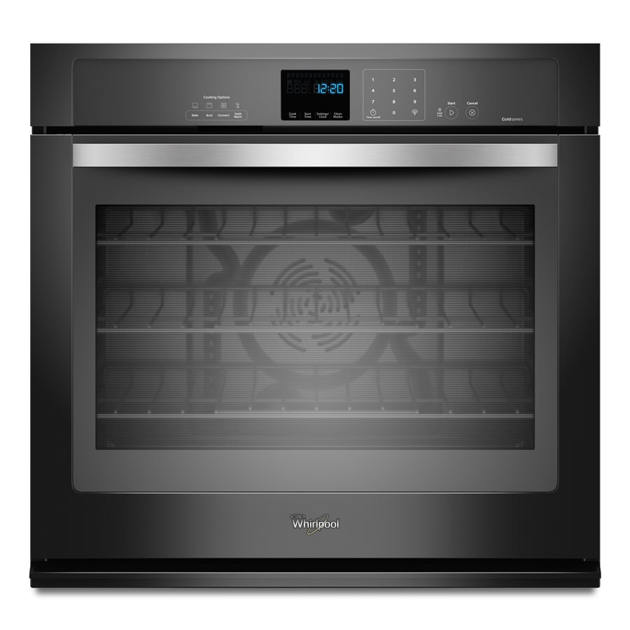 Whirlpool Gold Convection Single Electric Wall Oven (Black Ice) (Common: 30-in; Actual 30-in)