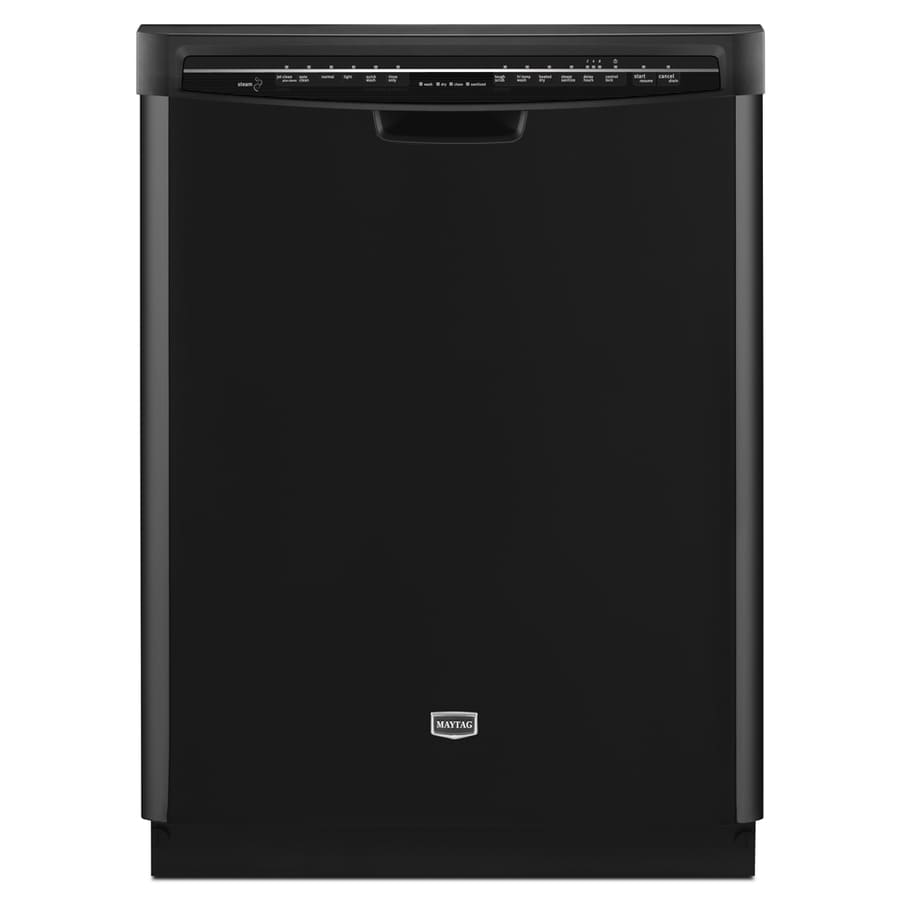 Maytag 53-Decibel Built-In Dishwasher (Black) (Common: 24-in; Actual: 23.875-in)
