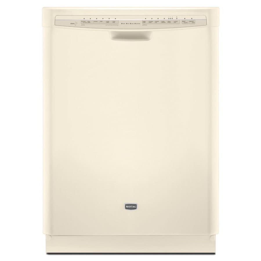Maytag 24-in Built-In Dishwasher with Hard Food Disposer (Bisque) ENERGY STAR