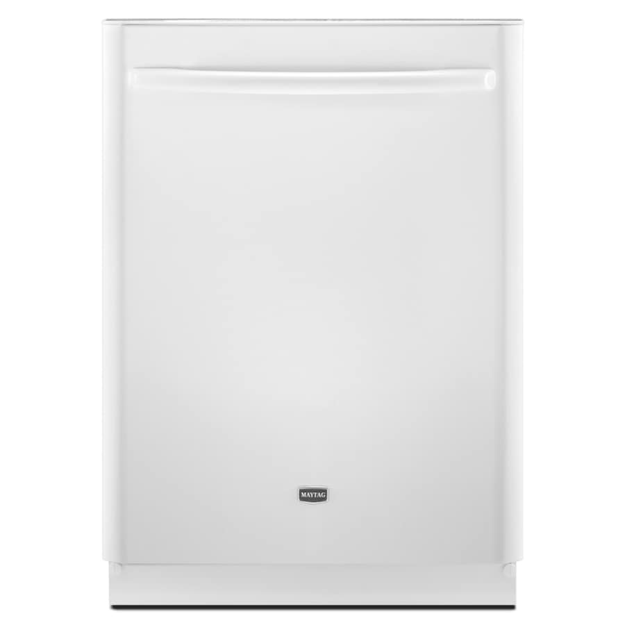 "Maytag 24"" Built-In Dishwasher with Hard Food Disposer (White) ENERGY STAR"