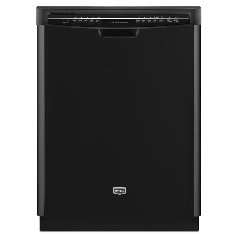 Maytag 57-Decibel Built-In Dishwasher with Hard Food Disposer (Black) (Common: 24-in; Actual 23.875-in) ENERGY STAR