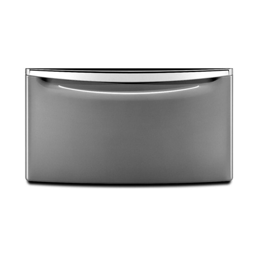Laundry 1-2-3 15.5-in x 27-in Chrome Laundry Pedestal with Storage Drawer