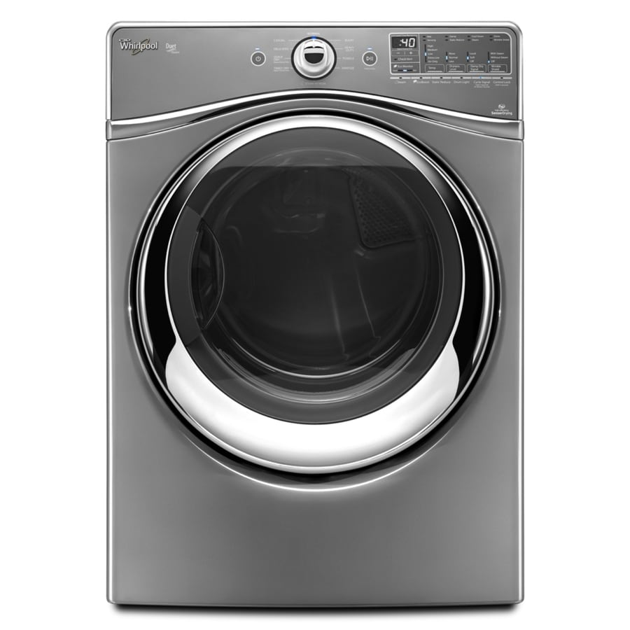 Whirlpool Duet 7.4-cu ft Stackable Electric Dryer with Steam Cycle (Chrome)