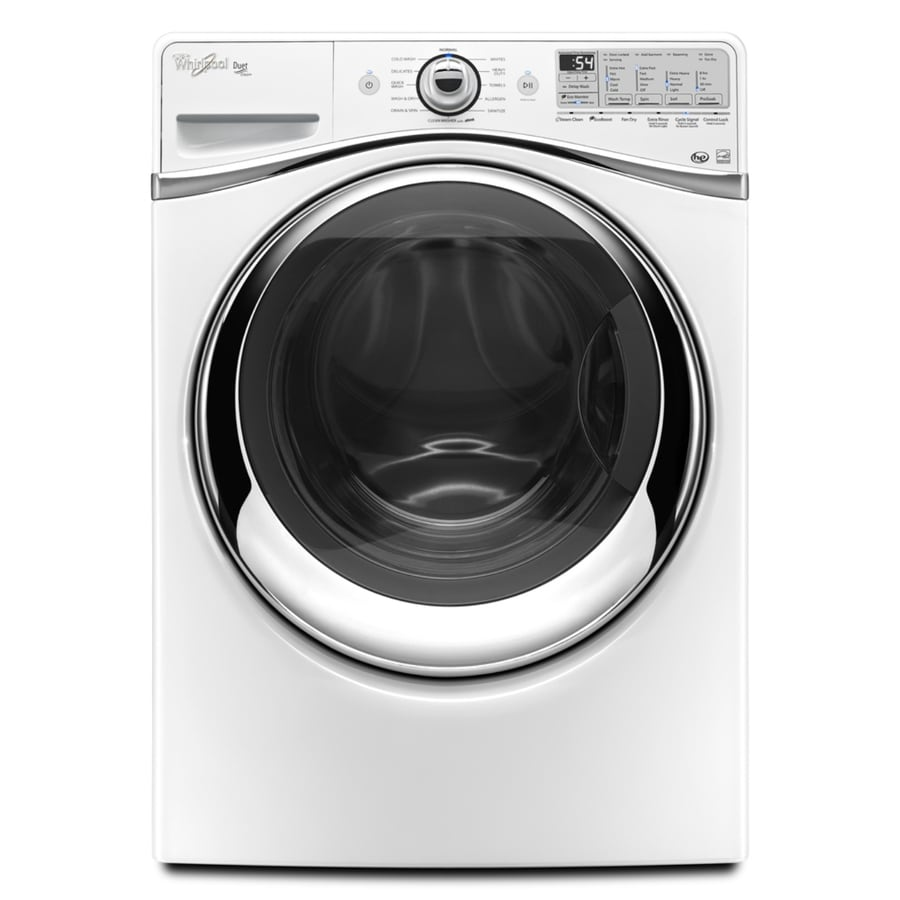 Whirlpool Duet 4.3-cu ft High-Efficiency Stackable Front-Load Washer with Steam Cycle (White) ENERGY STAR