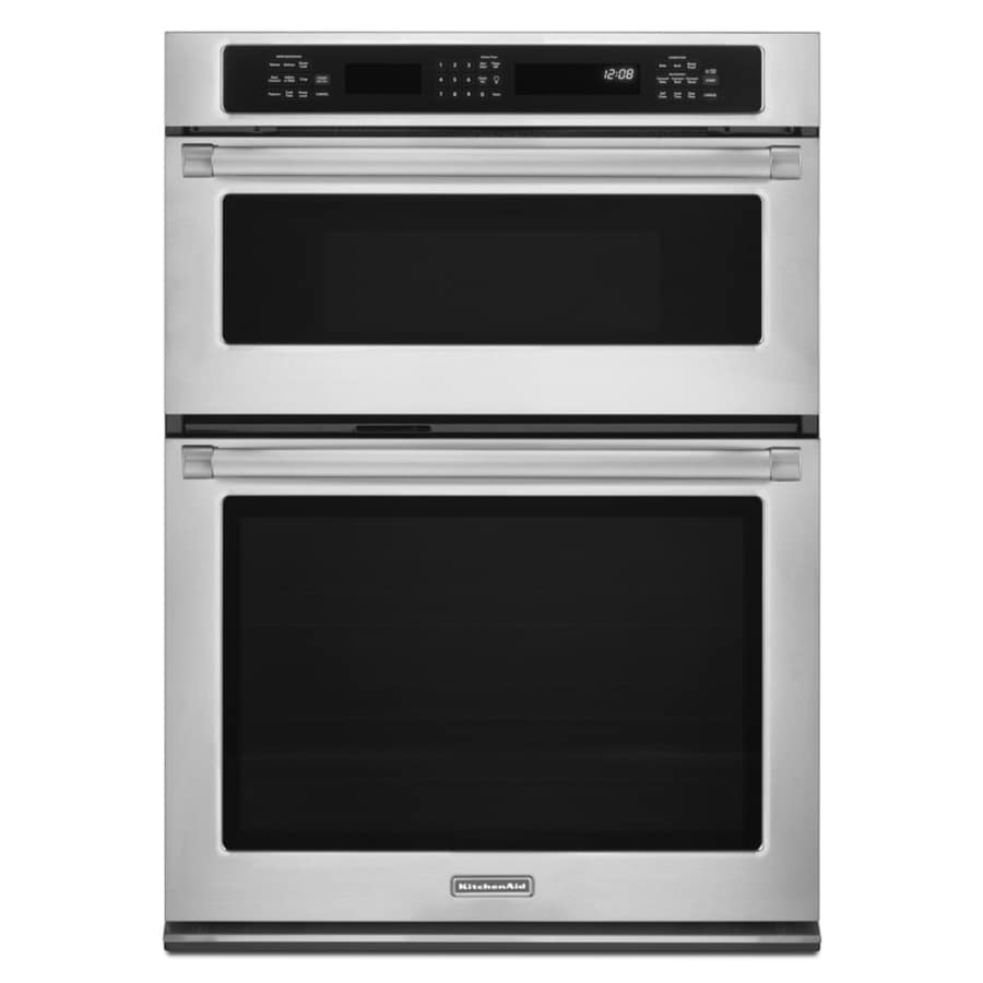 KitchenAid Self-Cleaning Convection Microwave Wall Oven Combo (Pro Style Stainless) (Common: 30-in; Actual 30-in)