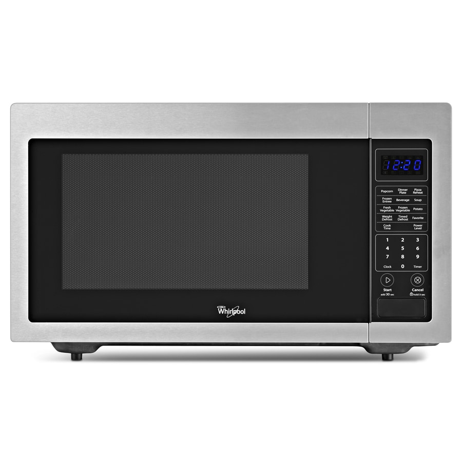 Shop Whirlpool 1 6 Cu Ft 1 200 Watt Countertop Microwave