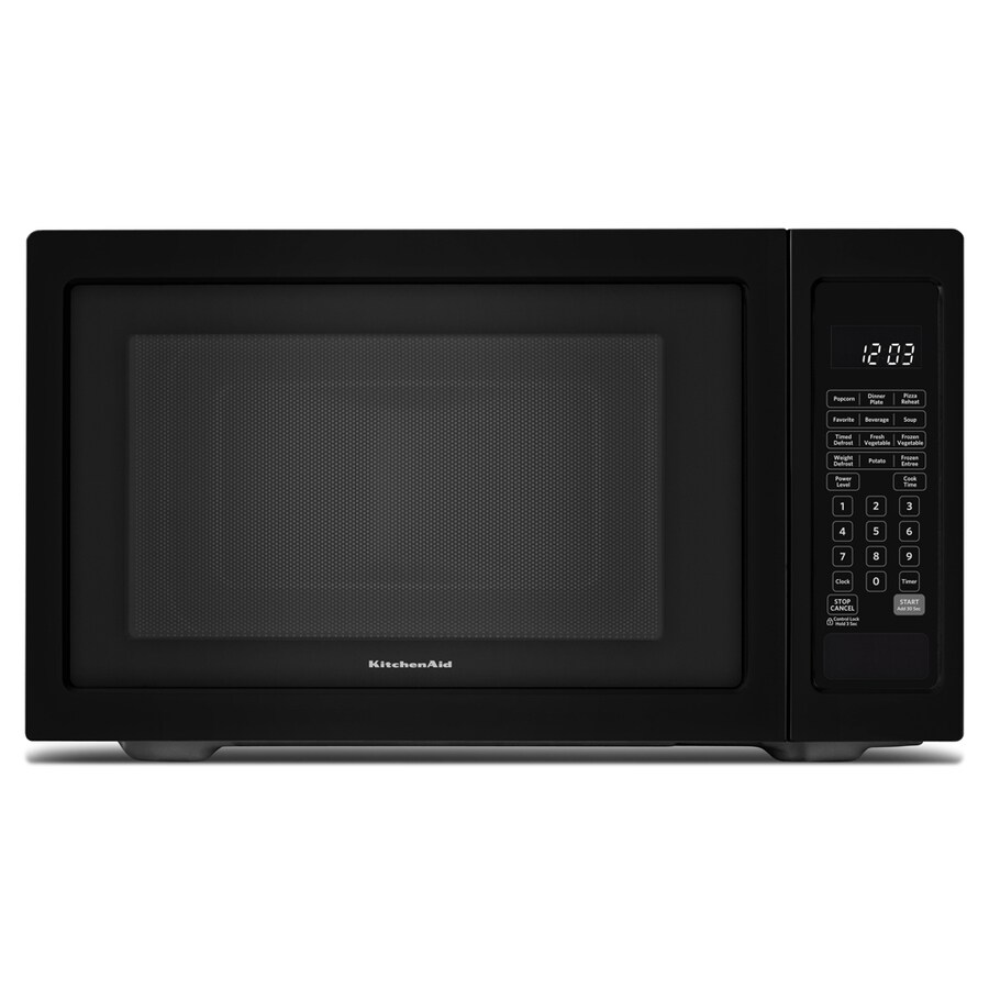 KitchenAid 1.6-cu ft 1,200-Watt Countertop Microwave (Black)