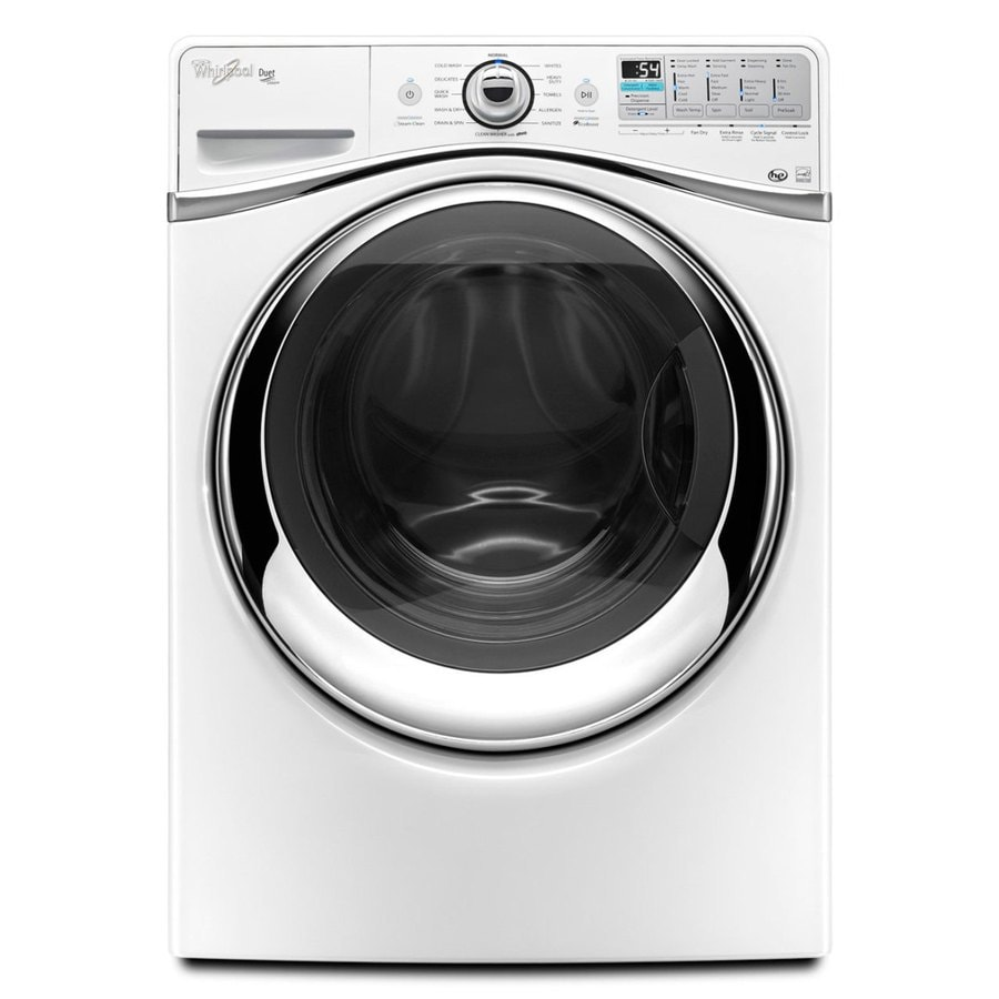 Whirlpool Duet 4.3-cu ft High-Efficiency Front-Load Washer with Steam Cycle (White) ENERGY STAR