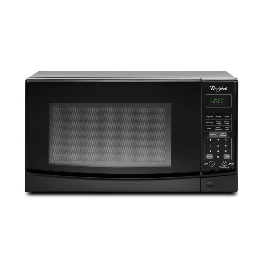 Shop Whirlpool 0.7-cu ft 700-Watt Countertop Microwave (Black) at ...