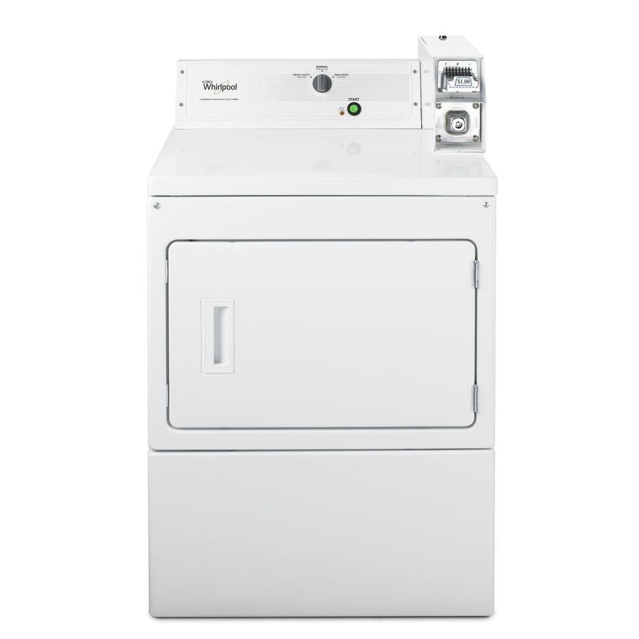Whirlpool 7.4-cu ft Coin-Operated Gas Commercial Dryer (White)
