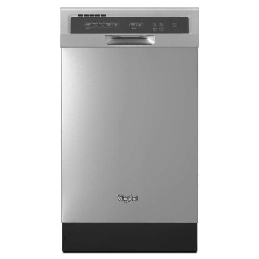 Whirlpool 57-Decibel Built-In Dishwasher (Monochromatic Stainless Steel) (Common: 18-in; Actual: 18-in) ENERGY STAR