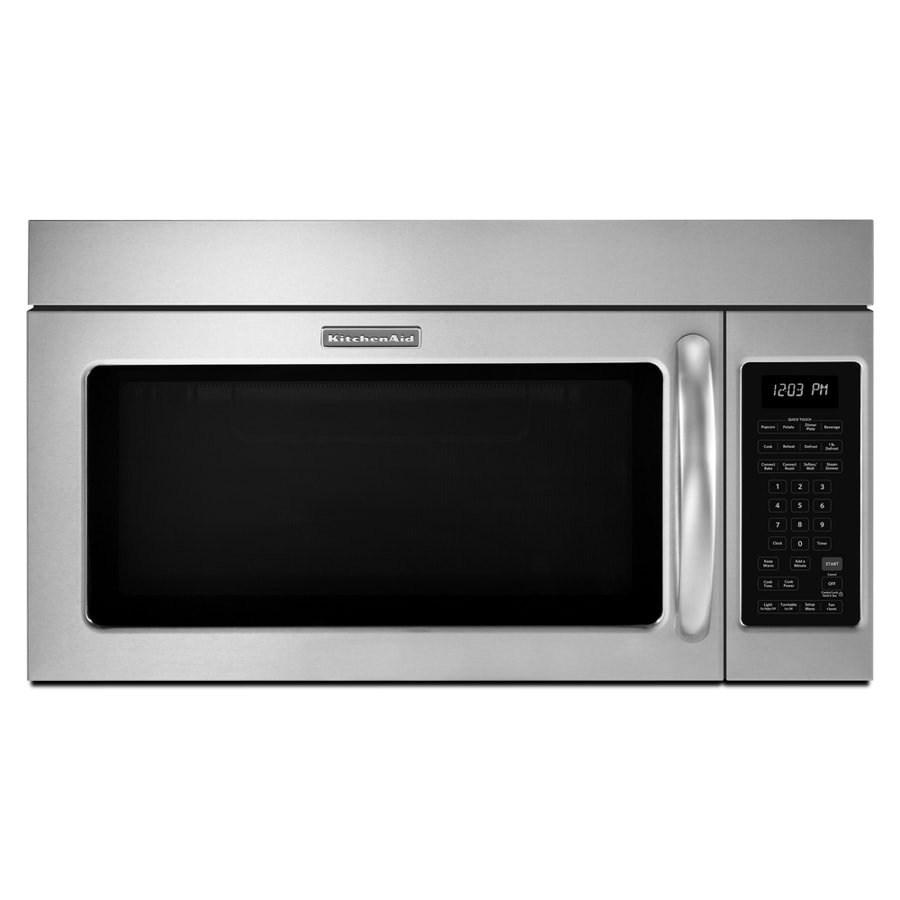 KitchenAid Pro Line 1.8-cu ft Over-The-Range Convection Oven Microwave with Sensor Cooking Controls (Stainless Steel) (Common: 30-in; Actual: 29.87-in)