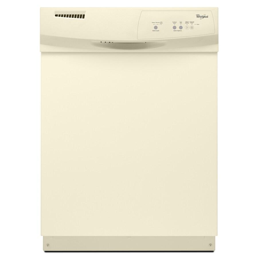 Whirlpool 63-Decibel Built-In Dishwasher (Biscuit) (Common: 24-in; Actual: 23.875-in)
