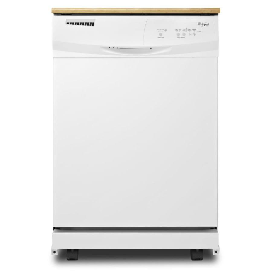 Whirlpool 24.125-in 55-Decibel Portable Dishwasher (White)