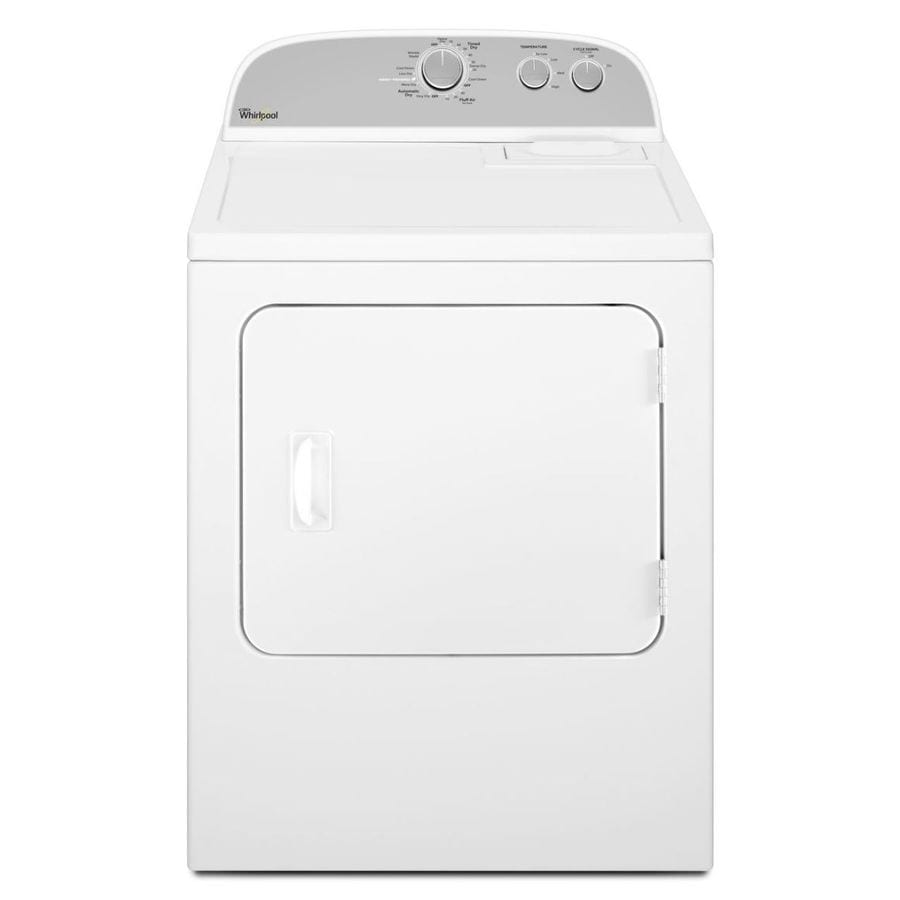 Whirlpool 7-cu ft Electric Dryer (White-On-White)