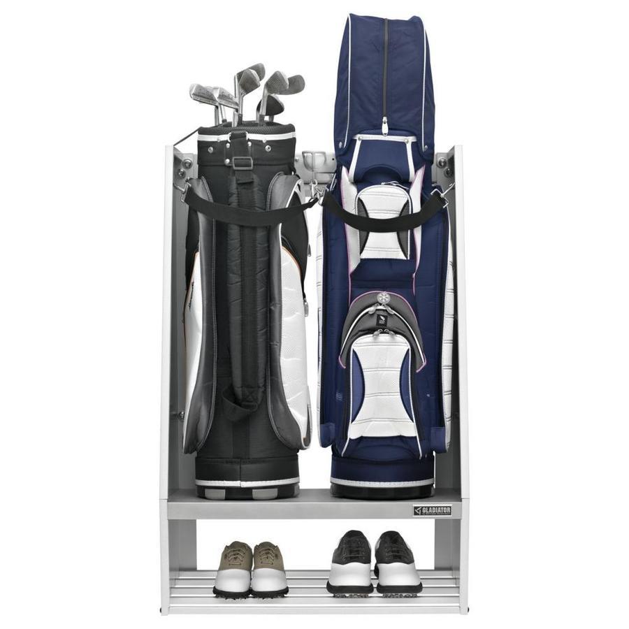 Gladiator 27.5-in L x 42.5-in H x 15-in D White Golf Club Caddy