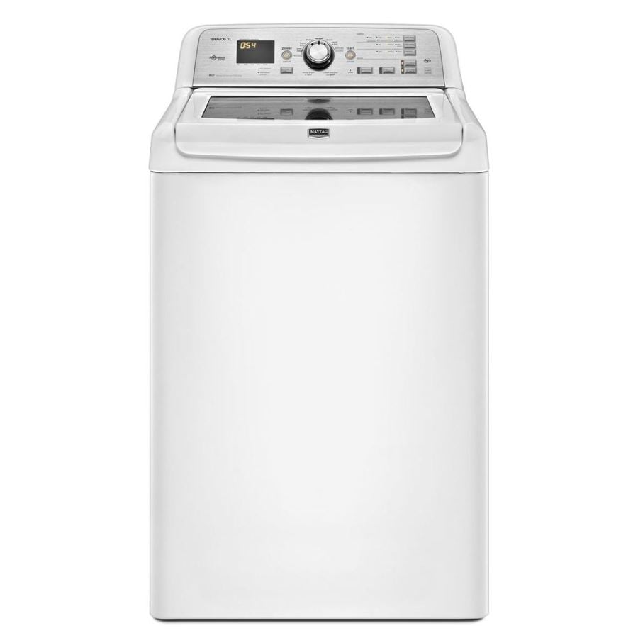 Maytag Bravos XL 4.5-cu ft High-Efficiency Top-Load Washer (White)